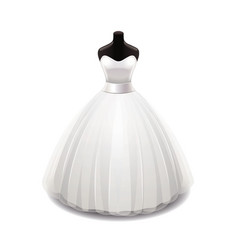Wedding dress isolated vector
