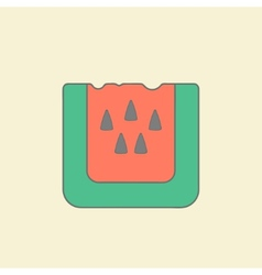 Stylized watermelon flat icon vector