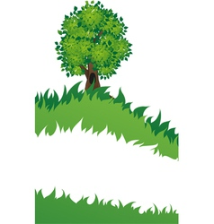Tree with grass vector