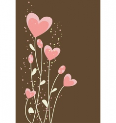 Greeting with abstract hearts vector