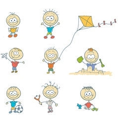 Children play on the playground vector