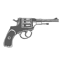 Gun isolated design elements vector