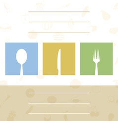 Or cafe with tablewares a vector illustratio vector