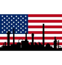 Industry and flag of usa vector