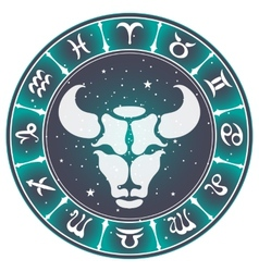 Taurus zodiac sign vector