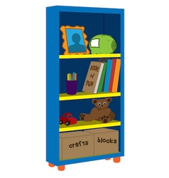Kids shelves vector