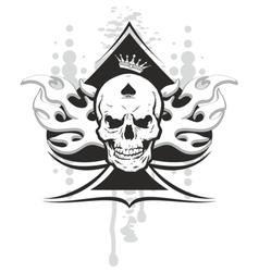 Ace of spades skull vector