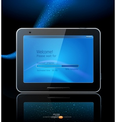 Black tablet pad vector