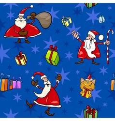 Christmas cartoon seamless pattern decor vector