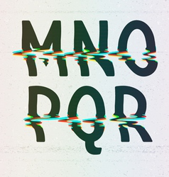 Cmyk print distortion font from m to r vector