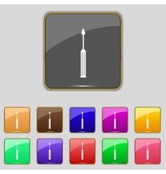 Screwdriver tool sign icon fix it symbol repair vector