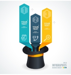 Modern infographics options banner 1 2 3 vector