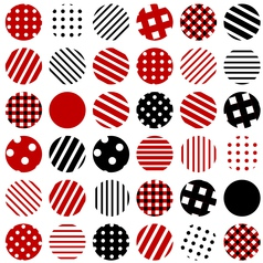 Patterned circles background vector