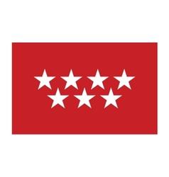 Community of madrid flag vector