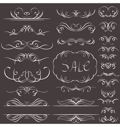 Calligraphy decorative borders ornamental rules di vector