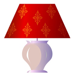 Lamp for the bedroom vector