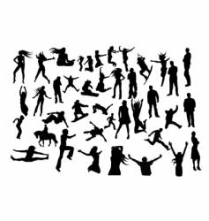 Set of silhouettes vector