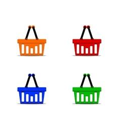 Basket set vector