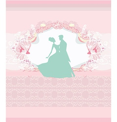 Ballroom couple dancers - invitation vector