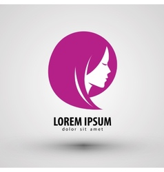 Beauty salon logo design template people vector