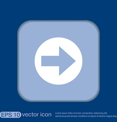 Web arrow vector