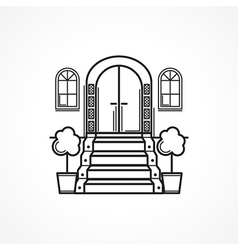 Line icon for front door vector