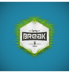 Festival spring break realistic badge vector