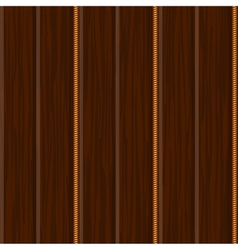 Wood wall panel texture with gold vector