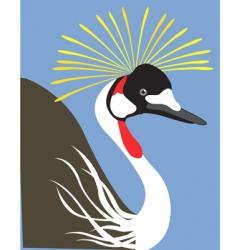 Crowned crane vector