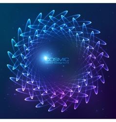 Blue abstract cosmic background vector