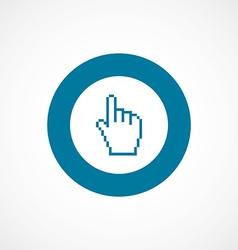 Pointer pixel cursor bold blue border circle icon vector
