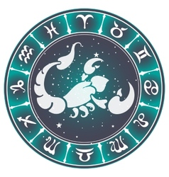 Scorpio zodiac sign vector