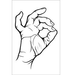 Hand gesture - okay vector