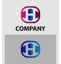 H letter logo icon design template element vector
