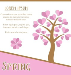Spring season card vector