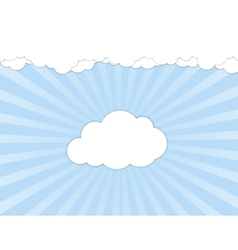White clouds over blue sky vector