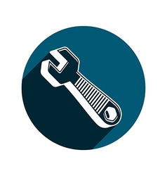 3d wrench detailed work tool three-dimensi vector