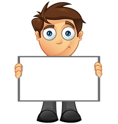 Business man blank sign 8 vector