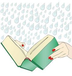 A moving book vector