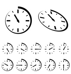 Round black timer icons vector