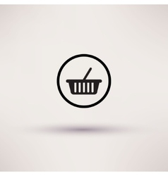 Shopping basket icon template for design vector