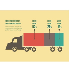 Transportation infographic element vector