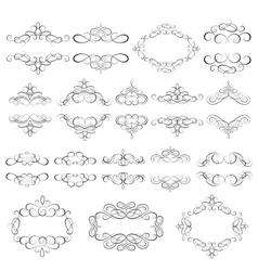 Set - calligraphic design elements vector