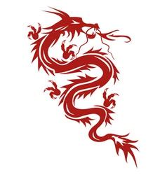 Dragon a symbol of oriental culture vector