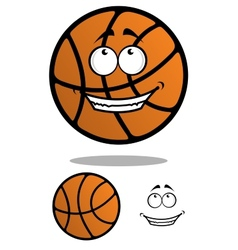Cartoon classic orange basketball ball vector