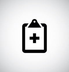 Medial notepad icon vector