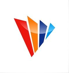Shape abstract technology logo vector