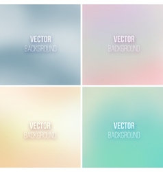 Abstract colorful blurred backgrounds set 13 vector