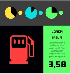 Transportation infographic element vector