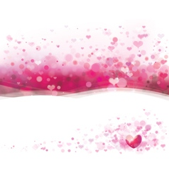 Pink heart background vector